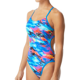 TYR Synthesis Mojave Cutoutfit Swimsuit Women, blue/multi